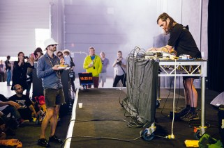 Russell Haswell's set was especially loud and challenging