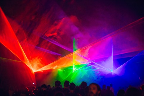 RGB, a laser and sound performance by Robin Fox