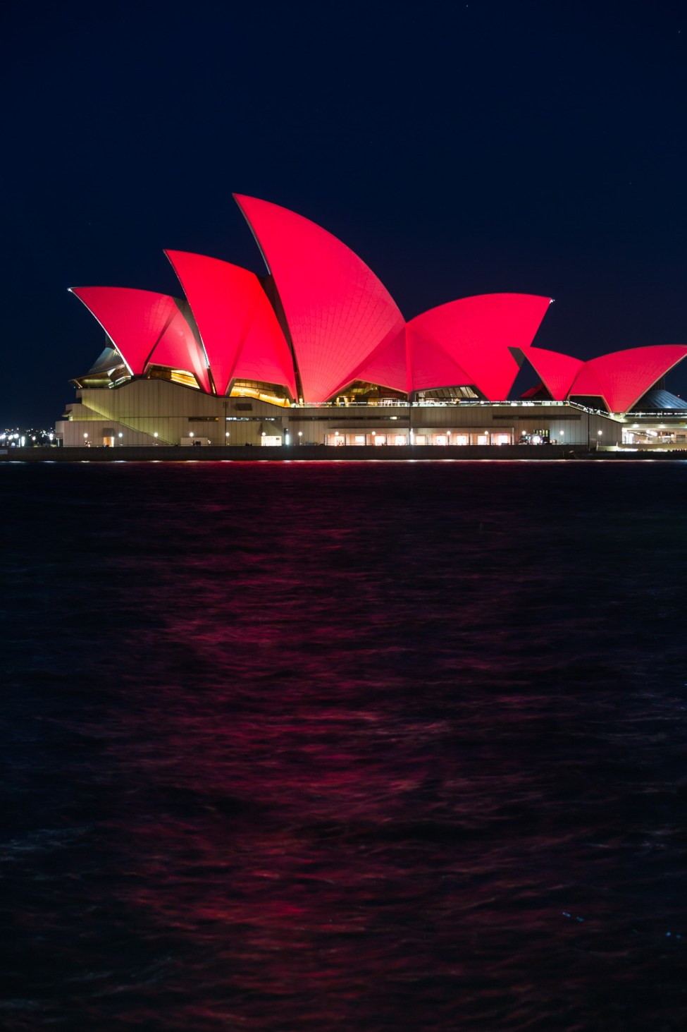 Sydney Opera House turns red for Chinese New Year