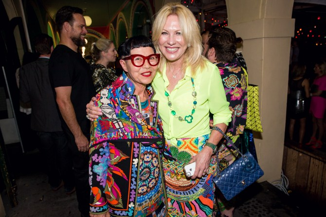 Jenny Kee and Kerri-Anne Kennerley