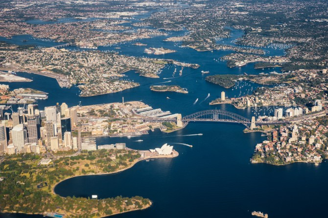Sydney from a plane