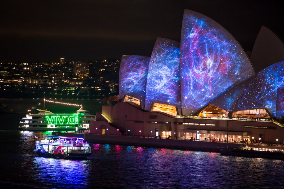 Vivid Sydney 2014 : Lighting of the Sails