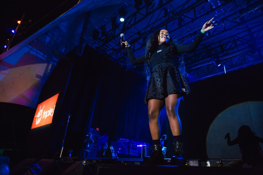 : Tkay Maidza - Triple J's Beat the Drum concert The Domain Sydney
