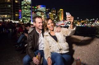 Vivid Sydney 2015 : Jude Bolton and Lynette Carroll-Bolton Opera Bar Sydney
