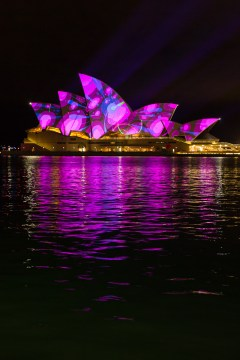 Vivid Sydney 2015 : Lighting of the Sails Sydney Opera House Sydney