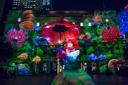Vivid Sydney 2015 : Monet Customs House Sydney