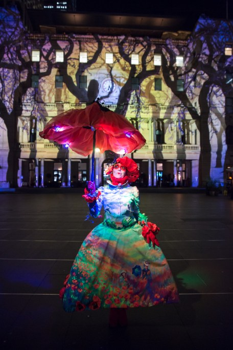 Vivid Sydney 2015 : Monet Customs House Sydney