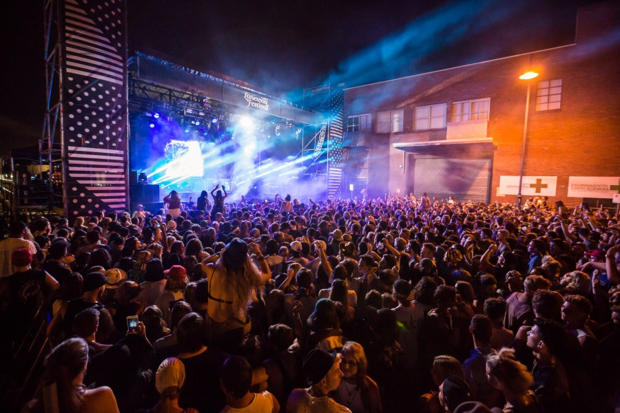 : The Very West Stage - Melbourne Laneway Festival 2016 Footscray Melbourne