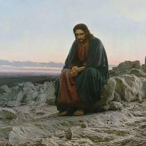 Kramskoi Christ dans le desert
