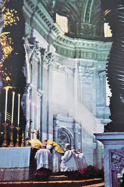 570 Venerable Pius XII Celebrates Papal Low Mass in St. Peter's Basilica