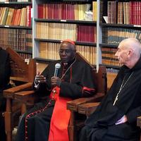 6782 Cardinal Sarah Visits Solesmes Monks I