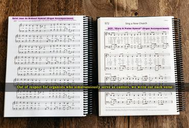 84819 simultaneous-Brebeuf-Hymnal-Organ-Accompaniments