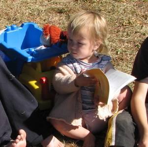 Brandt children with hymnbooks