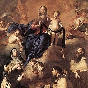 Our Lady of Mt Carmel by Pietro Novelli