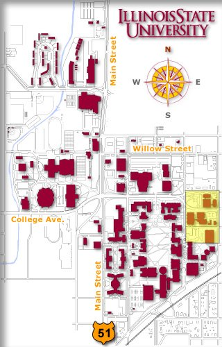 Illinois State University Campus Map : illinois, state, university, campus, Illinois, State, Normal