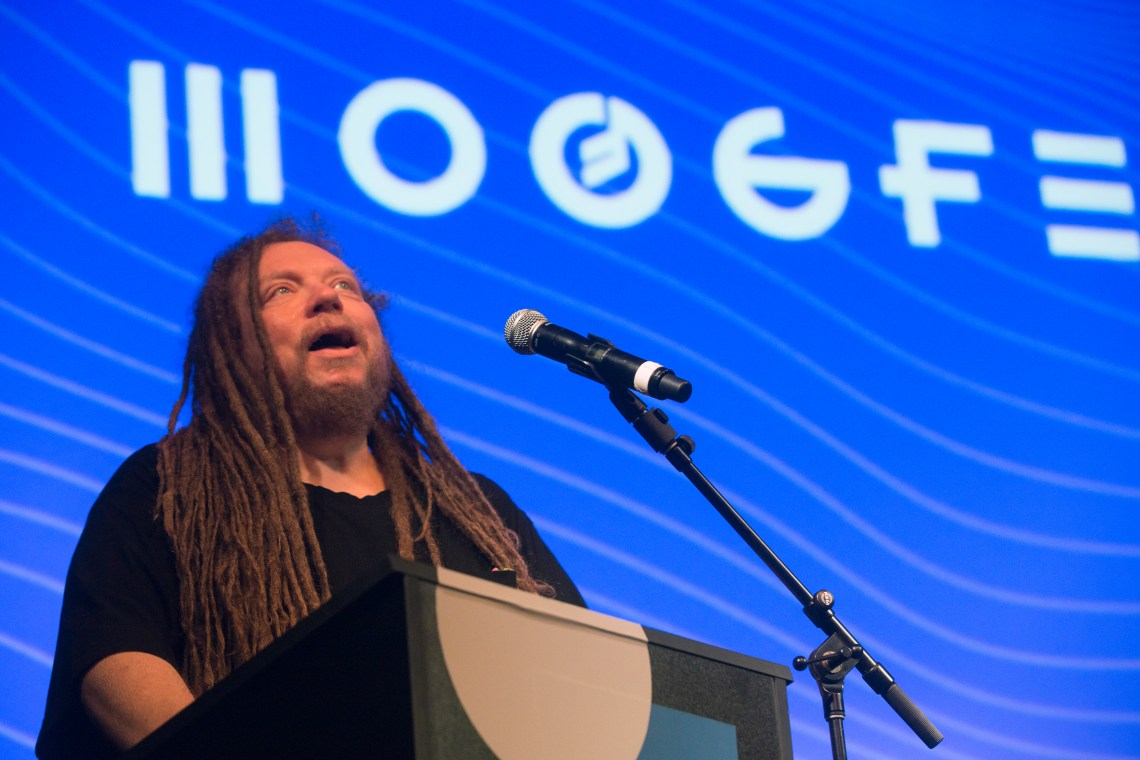 Jaron Lanier Keynote at Caroline Theater credit Ryan Snyder 5-21