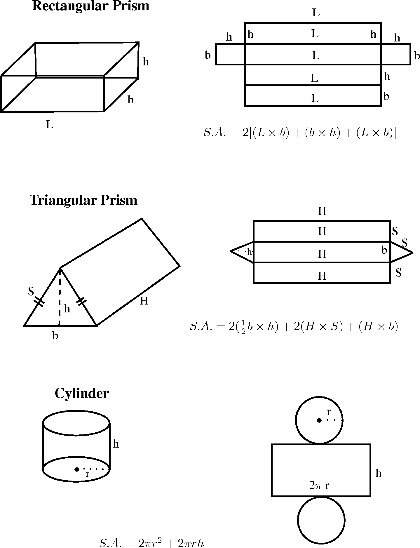 Worksheet Surface Area Of A Trianglar Prism
