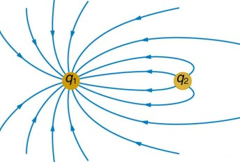 Image result for electric field lines around negative point charge