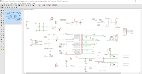 small resolution of also in this schematic i have designec a voltage regulator circuit outputs 5 volts to feed the microcontroller atmega 328p