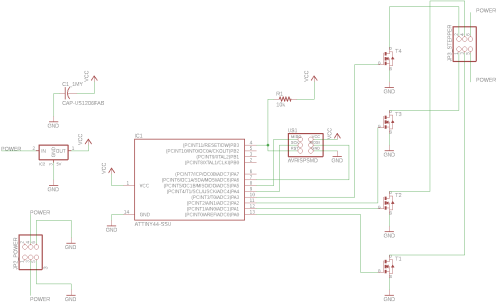 small resolution of an eagle schematic to the unipolar stepper motor