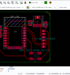 from the circuit schematic i designed a pcb board  [ 1366 x 677 Pixel ]