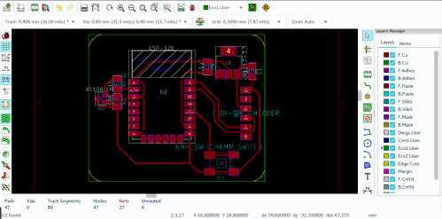 small resolution of from the circuit schematic i designed a pcb board
