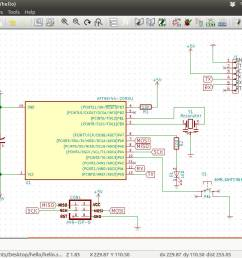 now you can save the schematic and start creating the pcb layout before you go into the pcb layout you need to save the netlist the list of components  [ 1366 x 768 Pixel ]