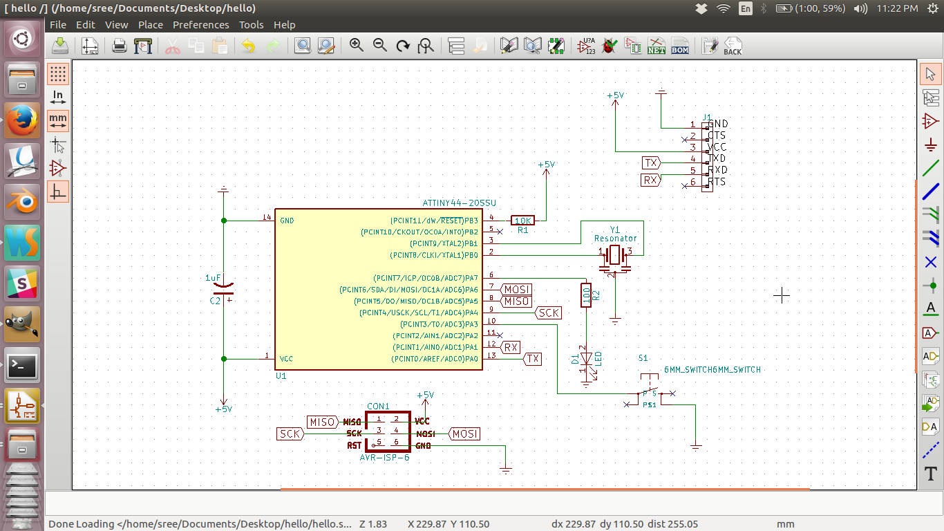 hight resolution of now you can save the schematic and start creating the pcb layout before you go into the pcb layout you need to save the netlist the list of components