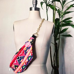 DIY chain fanny pack