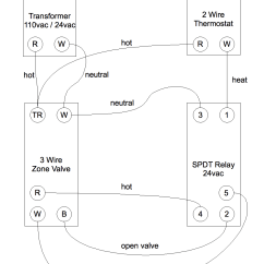 3 Wire Thermostat Wiring Diagram Ford Courier Control A Zone Valve With 2 Geek Wisdom Com After Installing The Relays Between My Thermostats And Valves Everything Works Great Here S Some Pictures