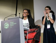 Tamanda Chabvuta wins most popular video prize - picture credit : Andrew Wheeler for Wild Dog Limited / WLE_CGIAR 2015