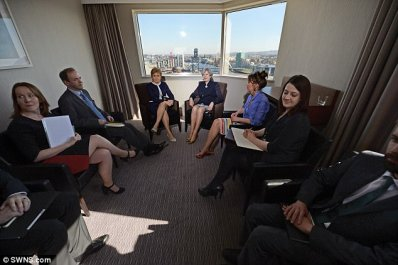 The talks between the leaders today are being held at the Crowne Plaza hotel in Glasgow