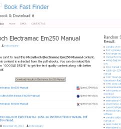 34 mcculloch electramac em250 manual [ 1024 x 768 Pixel ]