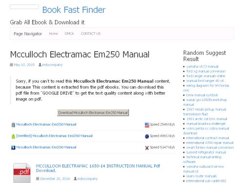small resolution of  34 mcculloch electramac em250 manual