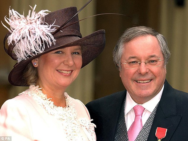 Actress and radio presenter Kathryn Apanowicz, who was Whiteley's partner for 11 years. They are pictured together in 2004 at Buckingham Palace when Whiteley received an OBE