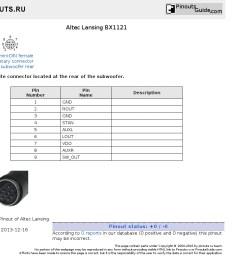 altec lansing 7 wiring diagram pinout [ 1024 x 860 Pixel ]