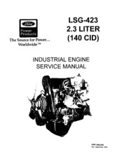194 216 Ford LSG423 2.3L Industrial Engine Service manual