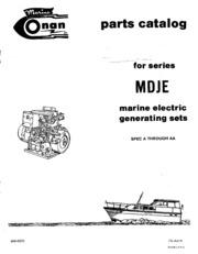 968 0220 Onan MDJE (spec A AA) Marine Diesel Genset Parts