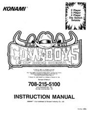 Arcade Game Manual: Wild West C.O.W. boys of Moo Mesa by