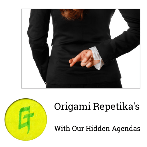 Origami Repetika  – With Our Hidden Agendas