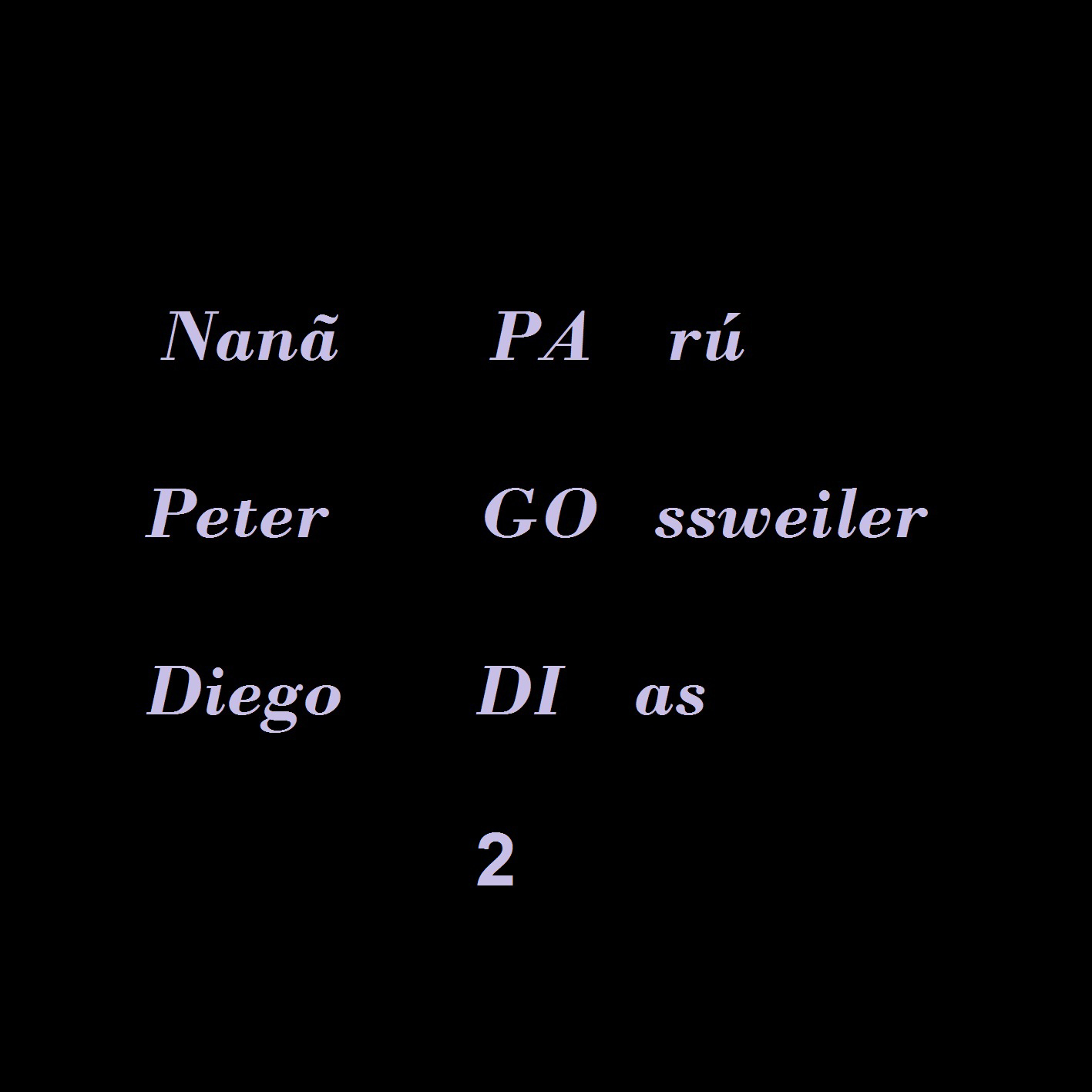 MSRCD 028 - Nanã Parú, Peter Gossweiler, Diego Dias - PAGODI 2