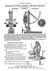 Michelé's Patent Cement-Testing Machine : Vitale Domenico