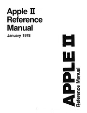 Apple II Reference Manual from Apple Computer : Free