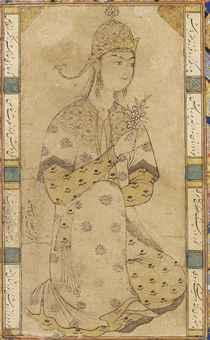 Lukisan putri Safawi oleh Riza Abbasi
