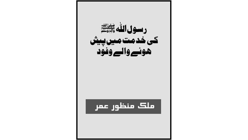 احمدی کتب ۔ خدمت نبوی میں پیش ہونے والےوفود اوراسوہ رسول ﷺ ۔ ملک منظور عمر