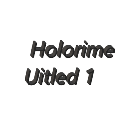 Holorime – Uitled 1