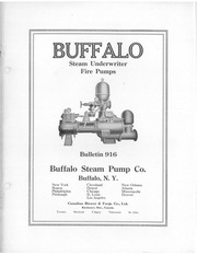 1919 Buffalo Steam Pump Co Underwriter Fire Pumps 916