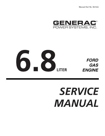 194 323 Ford WSG1068 6.8L Industrial Engine Service manual