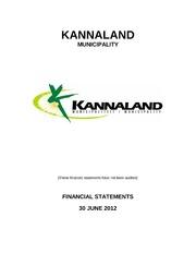 WC041 Kannaland Revised Budget 2011-12 : Free Download