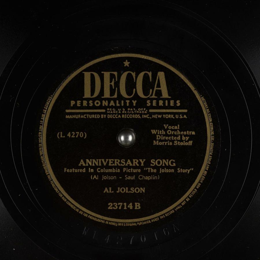 anniversary song al jolson